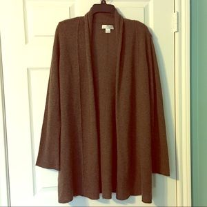 Kenar Cashmere Cardigan Open Brown Large
